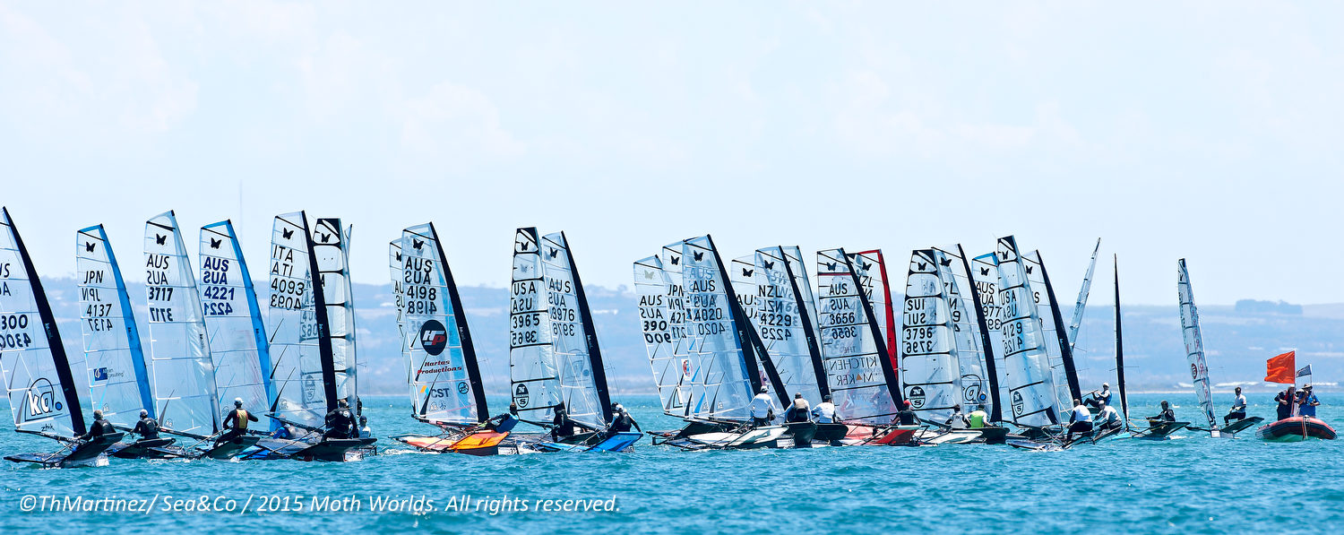 2015 McDougall + McConaghy Moth Worlds. Sorrento - VIC AUSTRALIA  . 6/16 January 2015. Organize by Sorrento Sailing Couta Boat Club.