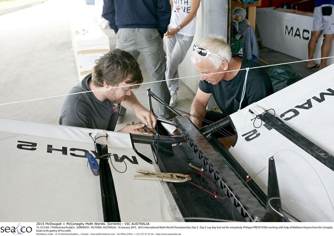 2015 McDougall + McConaghy Moth Worlds. Sorrento - VIC AUSTRALIA  . 6/16 January 2015. Organize by Sorrento Sailing Couta Boat Club.